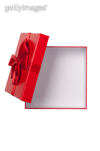 Empty gift box from above with clipping path. - gettyimageskorea