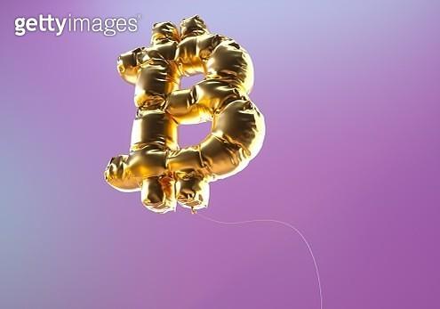 Bitcoin sign balloon - gettyimageskorea