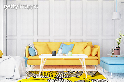 Modern Bright Living Room with Sofa - gettyimageskorea