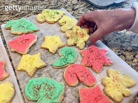 Homemade sugar cookies on the counter - gettyimageskorea