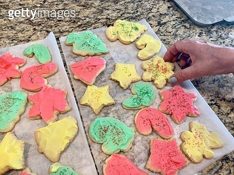 Homemade sugar cookies on the kitchen counter - gettyimageskorea