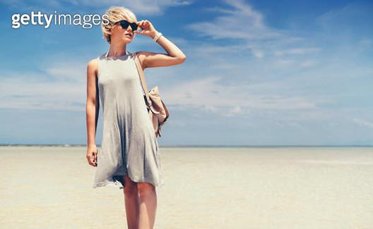 Walking on the beach - gettyimageskorea