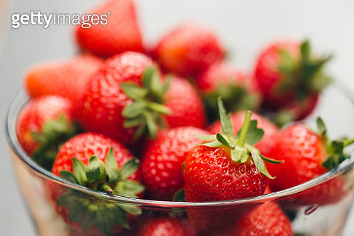 Close-Up Of Strawberries In Bowl - gettyimageskorea