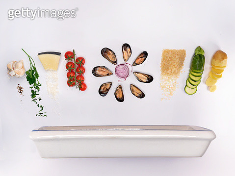 potatoes, rice, mussels and zucchini - gettyimageskorea