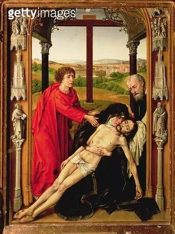 <b>Title</b> : The Lamentation of Christ (oil on panel)<br><b>Medium</b> : oil on panel<br><b>Location</b> : Capilla Real, Granada, Spain<br> - gettyimageskorea