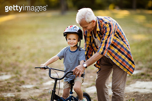 Grandson-grandfather love - gettyimageskorea