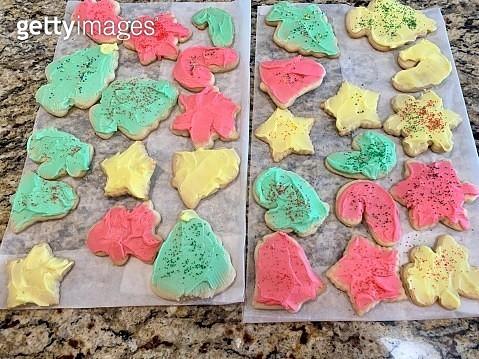 Homemade colored sugar cookies - gettyimageskorea