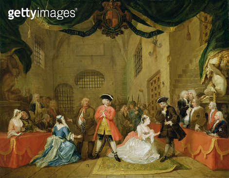 <b>Title</b> : The Beggar's Opera, Scene III, Act XI, 1729 (oil on canvas)Additional InfoDuke of Bolton (extreme right);<br><b>Medium</b> : oil on canvas<br><b>Location</b> : Yale Center for British Art, Paul Mellon Collection, USA<br> - gettyimageskorea