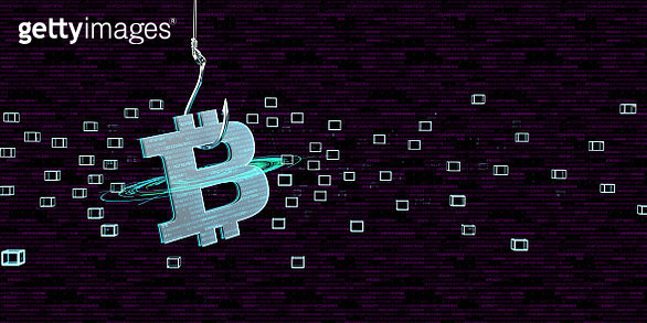 Bitcoin as bait for a trap, 3D Illustration - gettyimageskorea