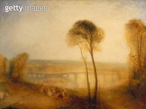 <b>Title</b> : Landscape with Walton Bridges, c.1845 (oil on canvas)<br><b>Medium</b> : oil on canvas<br><b>Location</b> : Private Collection<br> - gettyimageskorea