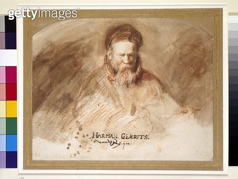 <b>Title</b> : Portrait of an Old Man (chalk and bistre wash)<br><b>Medium</b> : chalk and bistre wash on paper<br><b>Location</b> : Ashmolean Museum, University of Oxford, UK<br> - gettyimageskorea