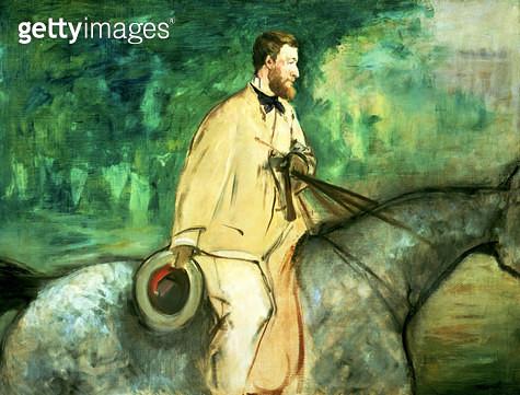 <b>Title</b> : Portrait of Gillaudin on a horse<br><b>Medium</b> : <br><b>Location</b> : Christie's Images<br> - gettyimageskorea
