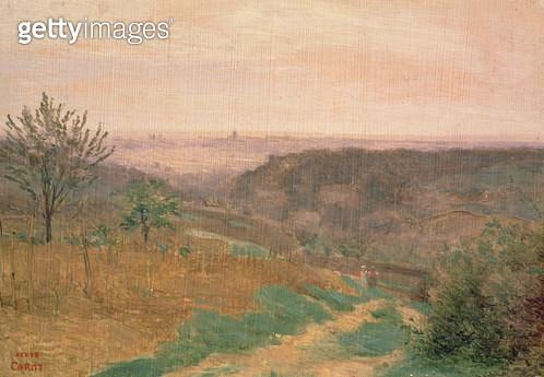 <b>Title</b> : Ville D'Avray, Hauts-de-Seine (oil on canvas)<br><b>Medium</b> : oil on canvas<br><b>Location</b> : Southampton City Art Gallery, Hampshire, UK<br> - gettyimageskorea