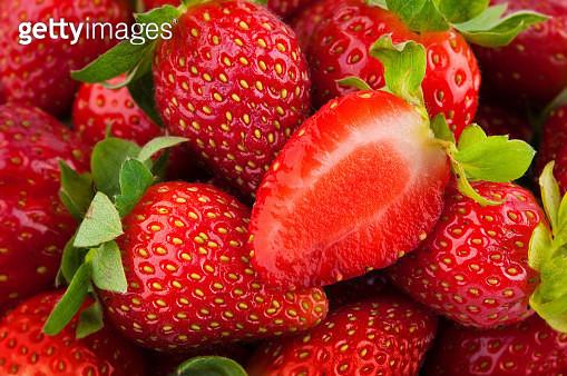 Full Frame Shot Of Strawberries - gettyimageskorea