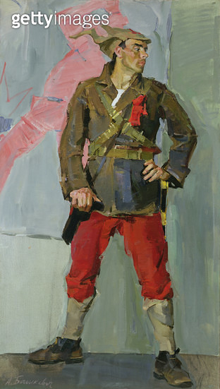 <b>Title</b> : Join-Up: Actor for the Red Army, 1960 (oil on canvas)<br><b>Medium</b> : oil on canvas<br><b>Location</b> : Springville Museum of Art, Utah, USA<br> - gettyimageskorea