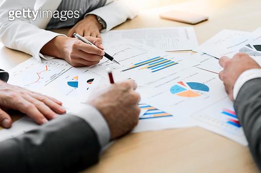 Business people discussing strategies - gettyimageskorea