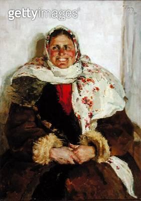 <b>Title</b> : Mariya Semonovan Sememova from Zagorsk (oil on canvas)<br><b>Medium</b> : oil on canvas<br><b>Location</b> : Springville Museum of Art, Utah, USA<br> - gettyimageskorea