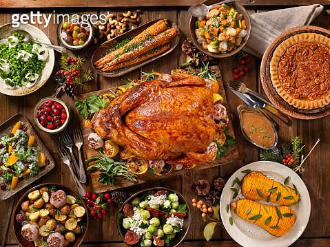 Holiday Turkey Dinner - gettyimageskorea