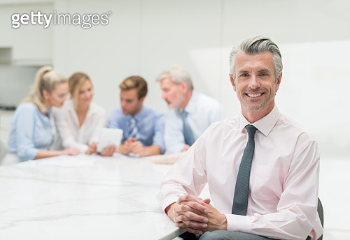 Successful man in a business meeting - gettyimageskorea