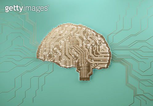 Digital Human Brain Covered with Networks - gettyimageskorea