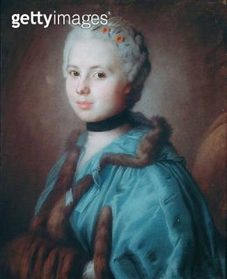 <b>Title</b> : Portrait of Madame Hovyn de Tranchere (pastel on paper)Additional Infowife of the secretary of the Marshal of Richelieu;<br><b>Medium</b> : <br><b>Location</b> : Musee des Arts Decoratifs, Bordeaux, France<br> - gettyimageskorea