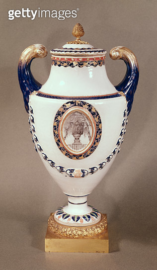 <b>Title</b> : Vase, East India Company (ceramic)<br><b>Medium</b> : <br><b>Location</b> : Musee des Arts Decoratifs, Bordeaux, France<br> - gettyimageskorea