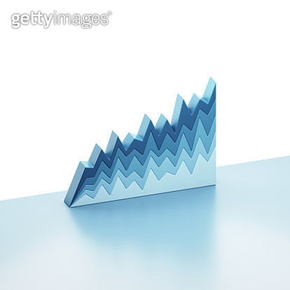 Stacked line graphs - gettyimageskorea