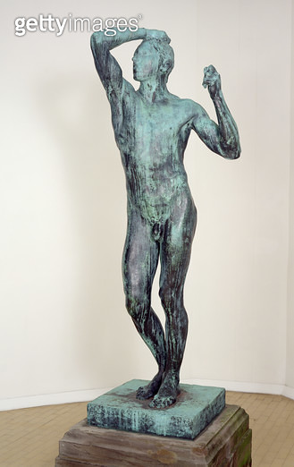 <b>Title</b> : The Age of Bronze, 1875-6 (this piece cast in 1906) (bronze)<br><b>Medium</b> : bronze<br><b>Location</b> : Leeds Museums and Galleries (City Art Gallery) U.K.<br> - gettyimageskorea