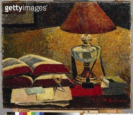<b>Title</b> : Under the Lamp (oil on canvas)<br><b>Medium</b> : oil on canvas<br><b>Location</b> : Museum of Finnish Art, Ateneum, Helsinki, Finland<br> - gettyimageskorea