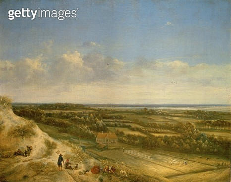 <b>Title</b> : View of Haarlem from the Dunes (oil on canvas)<br><b>Medium</b> : oil on canvas<br><b>Location</b> : Frans Hals Museum, Haarlem, The Netherlands<br> - gettyimageskorea