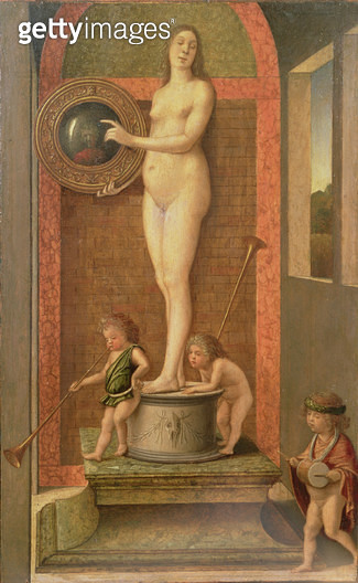 <b>Title</b> : Vanity (oil on panel)<br><b>Medium</b> : oil on panel<br><b>Location</b> : Galleria dell' Accademia, Venice, Italy<br> - gettyimageskorea