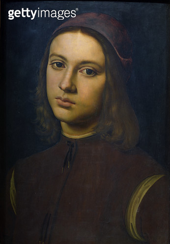 <b>Title</b> : Portrait of a young man, 1495 (oil on panel)<br><b>Medium</b> : oil on panel<br><b>Location</b> : Galleria degli Uffizi, Florence, Italy<br> - gettyimageskorea