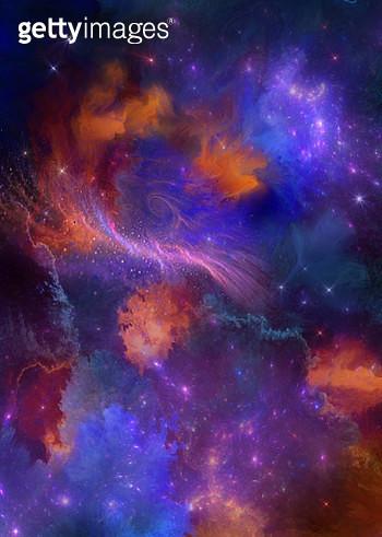 multicolored painted nebula - gettyimageskorea
