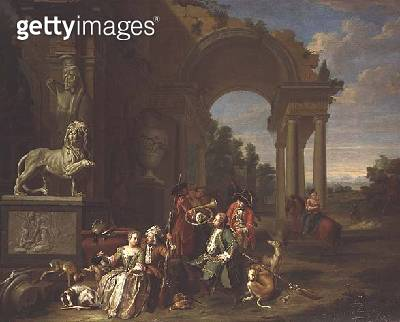 A Hunting party in classical ruins - gettyimageskorea