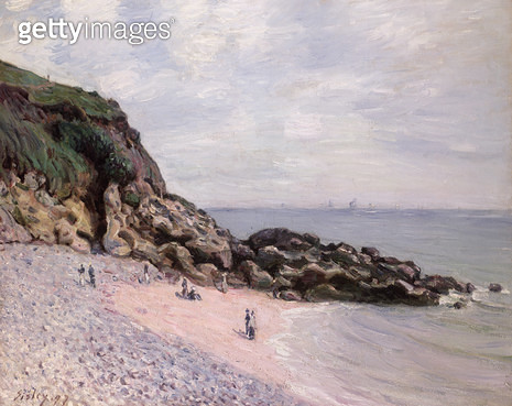 <b>Title</b> : Langland Bay, 1897 (oil on canvas)<br><b>Medium</b> : oil on canvas<br><b>Location</b> : Private Collection<br> - gettyimageskorea