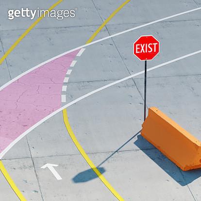 Exit or exist? - gettyimageskorea