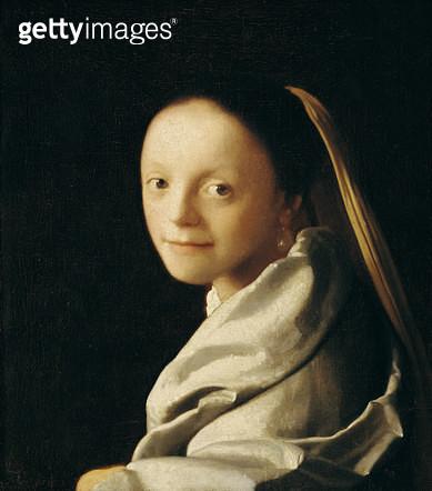 <b>Title</b> : Portrait of a Young Woman, c.1663-65 (oil on canvas)<br><b>Medium</b> : oil on canvas<br><b>Location</b> : Metropolitan Museum of Art, New York, USA<br> - gettyimageskorea