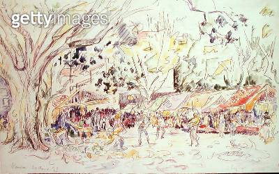 <b>Title</b> : Vaison, 1933 (w/c on paper)<br><b>Medium</b> : watercolour on paper<br><b>Location</b> : Private Collection<br> - gettyimageskorea