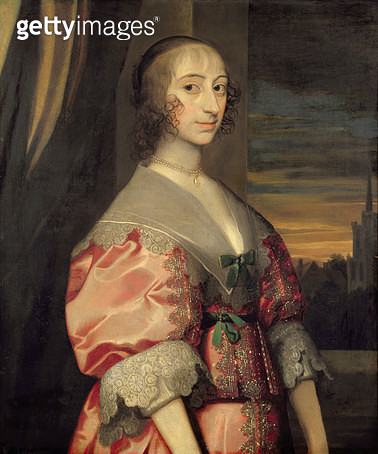 Lady Hoghton/ wife of the lst Baronet/ 17th century - gettyimageskorea