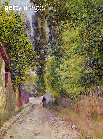 <b>Title</b> : Landscape near Louveciennes, 1876 (oil on canvas)<br><b>Medium</b> : oil on canvas<br><b>Location</b> : Private Collection<br> - gettyimageskorea
