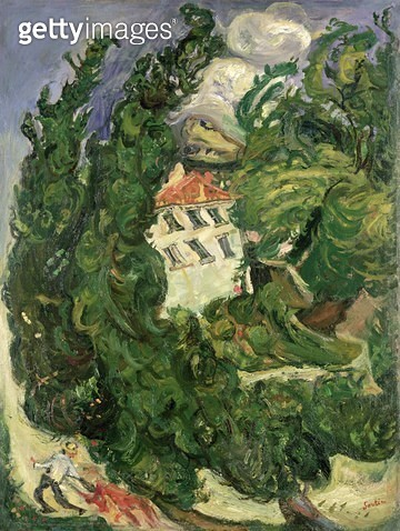 Landscape with Red Donkey/ 1922-23 (oil on canvas) - gettyimageskorea