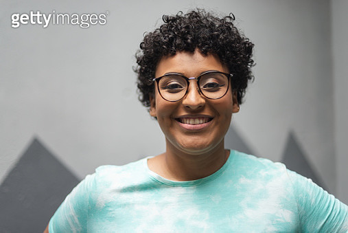 Portrait of androgynous woman - gettyimageskorea