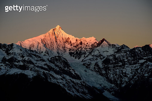 Beautiful Mountain at sunset, Diqing, Yunnan, China - gettyimageskorea