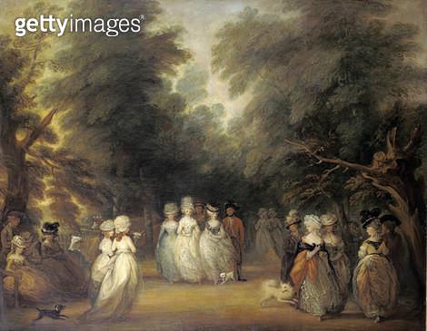 Damen bei der Promenade im St.James's Park London. - gettyimageskorea