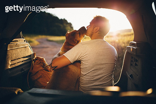 Man and dog - gettyimageskorea