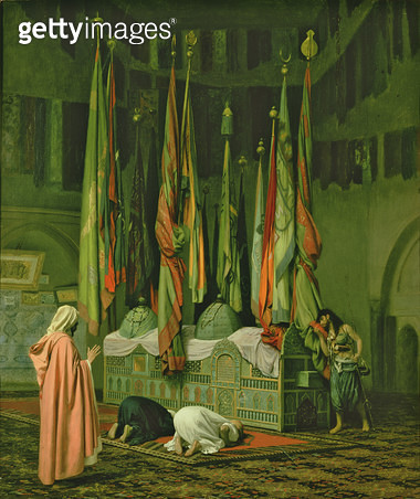 <b>Title</b> : The Shrine of Imam Hussein<br><b>Medium</b> : oil on canvas<br><b>Location</b> : Roy Miles Fine Paintings<br> - gettyimageskorea