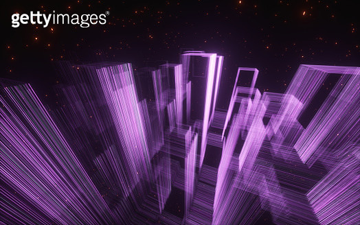 Abstract background with glowing group of lines , Technology abstract - gettyimageskorea