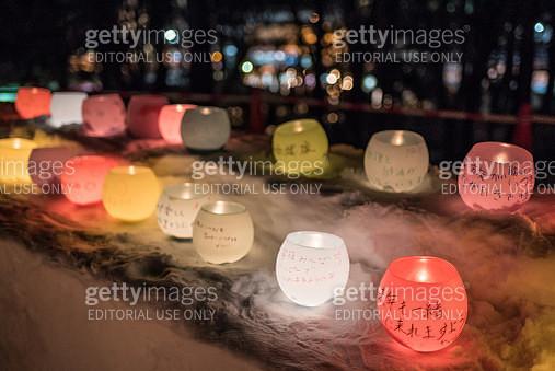 Jozankei Onsen Yukitouro Snow Candle Festival wish making candles - gettyimageskorea
