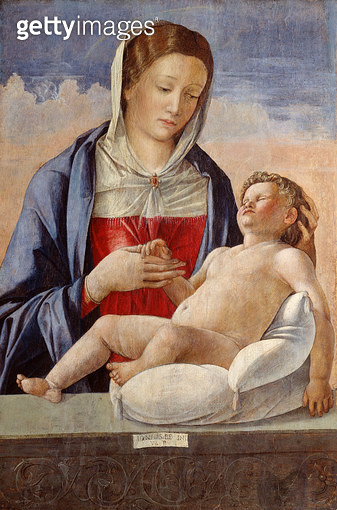 <b>Title</b> : The Madonna with the Sleeping Child on a Parapet, early 1470s (tempera on panel)<br><b>Medium</b> : tempera on poplar panel<br><b>Location</b> : Isabella Stewart Gardner Museum, Boston, MA, USA<br> - gettyimageskorea