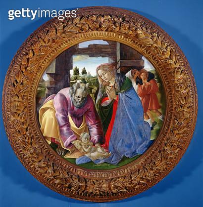 <b>Title</b> : The Nativity, c.1482-85 (tempera & oil on panel)<br><b>Medium</b> : tempera and oil on panel<br><b>Location</b> : Isabella Stewart Gardner Museum, Boston, MA, USA<br> - gettyimageskorea